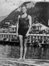 Freyberg in his youth at Oriental Bay, Wellington (NZ)