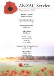 ANZAC Service at Lake Horowhenua