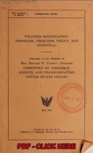 WEATHER MODIFICATION Programs, Problems, Policy and Potential-b