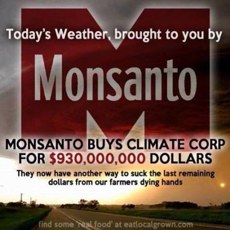 Monsanto Controls Weather