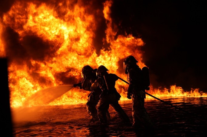 Seasoned fire fighters describe the heat in fires as like nothing they've ever seen before – is Aluminum Oxide from geoengineering the accelerant?