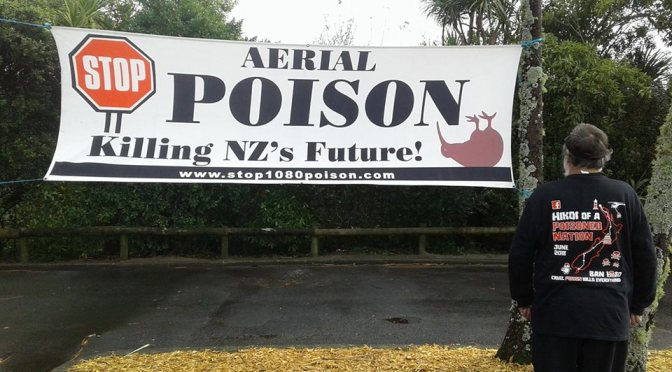 'Hikoi of a Poisoned Nation' – A peaceful hikoi protesting the widespread use of 1080 in NZ is happening now