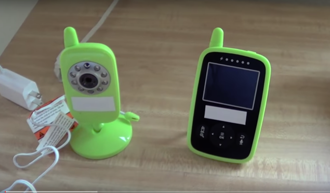 See the radiation emitted from a baby monitor
