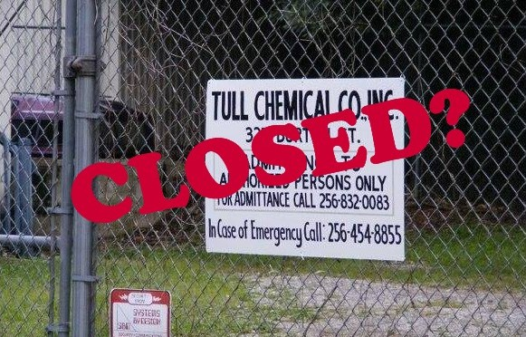 The controversial Tull Chemical Co in Alabama US, suppliers of pure 1080 to NZ is not closed as claimed