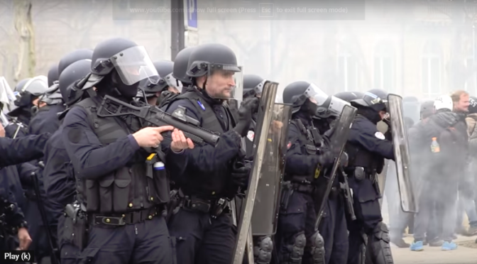 """France """"They shot me like a rabbit!""""   State Sanctioned Violence"""