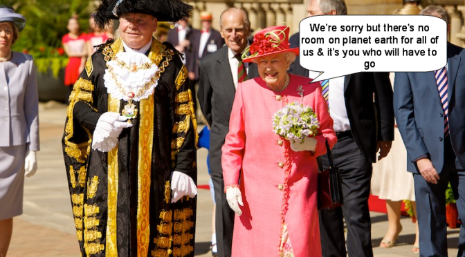 So the Royals are pressing for population control again – are they volunteering to go first?