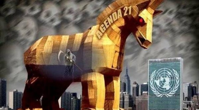 """We are moving toward a New World Order … and we shall never turn off that road…the environmental crisis will be the international disaster that will unlock the New World Order, one world government."""