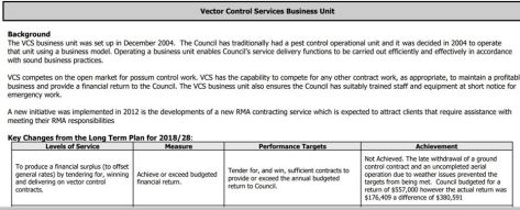 2. vector control biz unit from WCRC ann rept 1.7.18 to 30.6.19