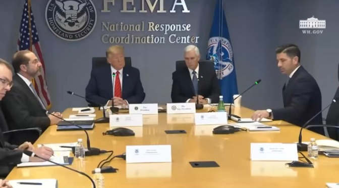 Here it is, the New World Order, as Trump hands over to FEMA (Executive Order 13603)