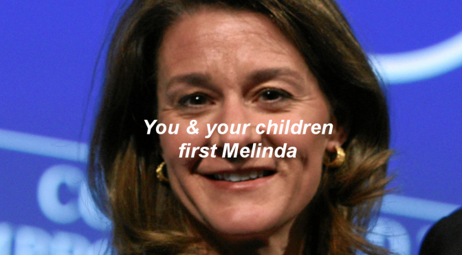 Guess who Depopulation globalist Melinda Gates is pushing to target first with their experimental COVID-19 vaccine?