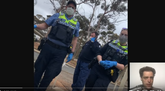 Australian Police Raid a Man's Home & Forcibly Quarantine him for Refusing a COVID-19 Test