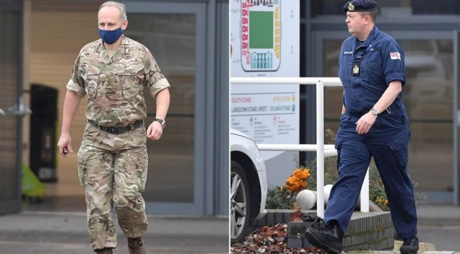 """British army arrives at Bristol stadium for COVID vaccine roll-out """"due to start next week"""""""