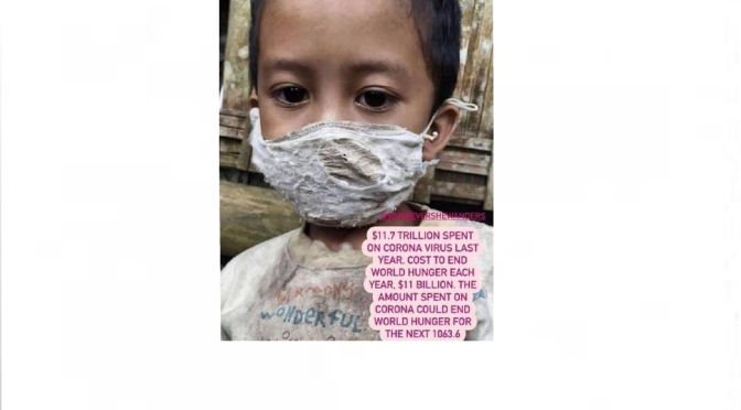 The true face of the plandemic – 'providing masks & vaccines but not food & clean water'