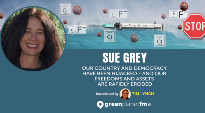 Western governments globally are working towards locking down their people – (Lawyer Sue Grey with Tim Lynch at greenplanet FM)