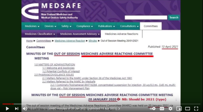 Was NZ's Medsafe (or the govt) hiding the truth re Pfizer vaccine?