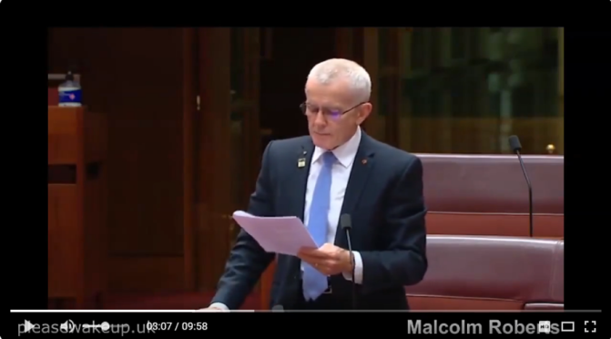 Hear Australia's Sen Malcolm Roberts speak on covid