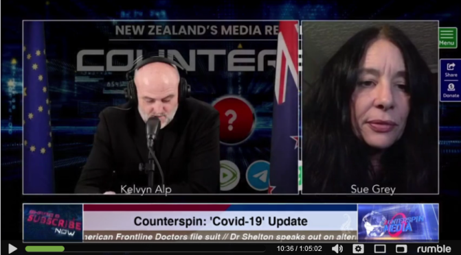 Lawyer & NZ Outdoors Party co-leader, Sue Grey joins Counterspin to talk about the vaccine roll out in NZ (Vid)